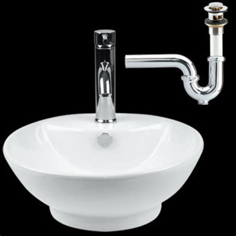 vessel sink white ceramic drain p trap traditional