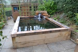 How To Build A Water Slide In Your Backyard Koi Carp Pond With Railway Sleepers