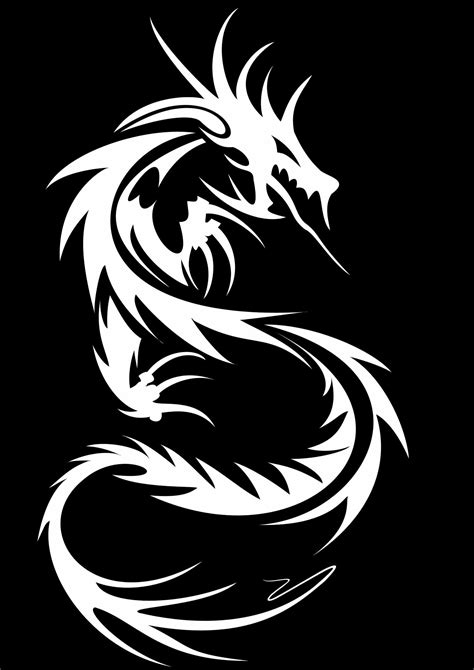 black and white dragon wallpaper tribal dragon wallpapers wallpaper cave