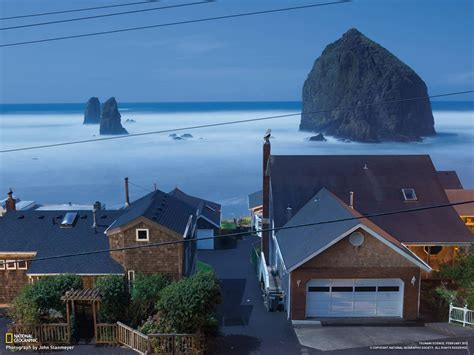 stunning image of cannon beach in oregon usa the