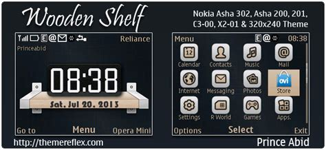 themes nokia x2 01 by princeabid wooden shelf theme themereflex