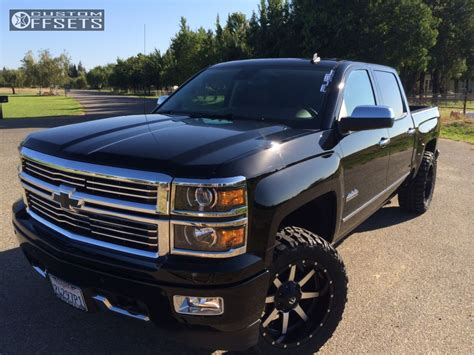 Wheel Offset 2014 Chevrolet Silverado 1500 Aggressive 1