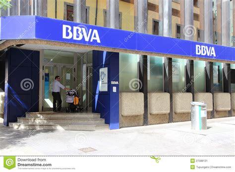 bbva bank bbva bank editorial photo image of corporation santa