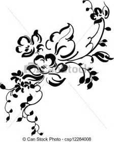 vector clipart of vintage floral design csp12284008