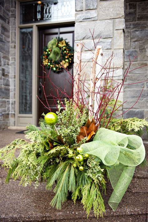 images of outdoor christmas urns 129 best images about winter containers on pinterest