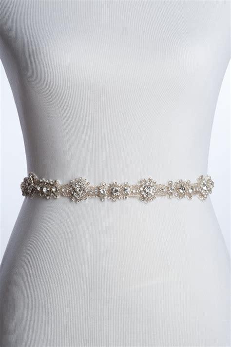 charme rhinestone sash wedding beaded belt bridal sash