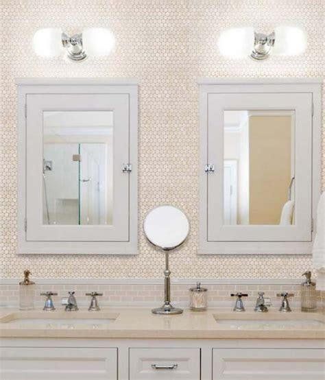 penny tiles bathroom penny round mother of pearl wall mirror tile hominter com
