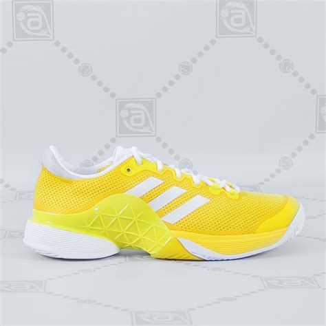 adidas s barricade tennis shoes yellow white 2017 aneelsports