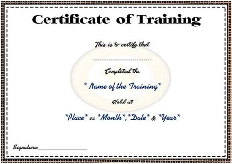 templates for certificates of attendance of a course course attendance certificate template 10 editable word