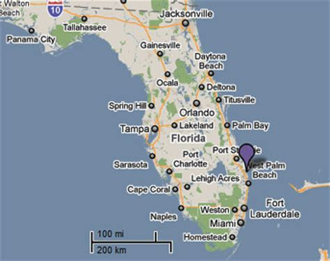 map of florida jupiter sighting reports 2010