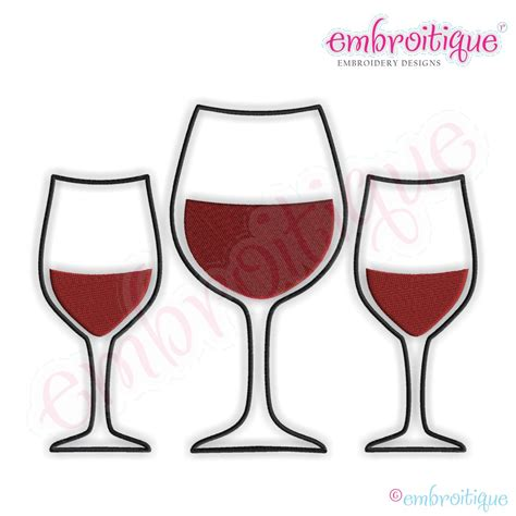 embroidery design wine glass embroitique wine glass monogram font frame small