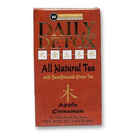 Daily Detox Tea Review by Wellements Daily Detox Tea Apple Cinnamon 30 Bags