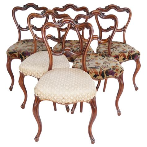 set    century english victorian dining chairs