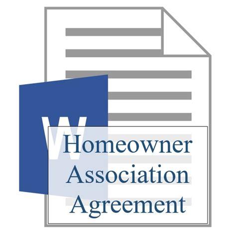 homeowner association agreement freebie