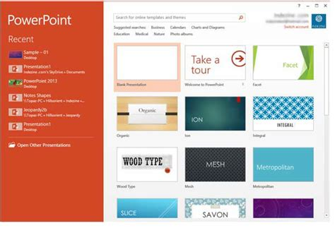 powerpoint presentation templates 2013 interface powerpoint 2013 for windows