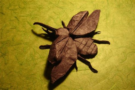 Origami Hercules Beetle - flying hercules beetle by origami artist galen on deviantart