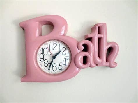 bathtub clock vintage 1980 s pink bath wall clock