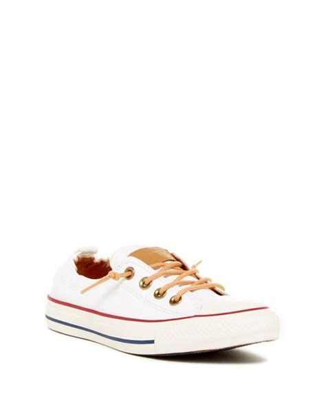 Converse Chuck All Slip Sneakers Hijau converse chuck r all r peached shoreline low top slip on sneaker lyst