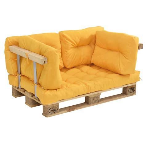 En Casa Paletten Sofa Senffarben Armlehne 2 Sitzer