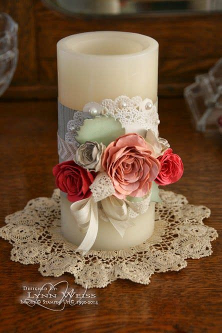Wedding Season Supplies Wedding Ideas Candle The Roses Pillar lw designs vintage candle wrap idea for wedding decorations or unity candle ceremony