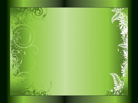 Green Ivy Swirl Powerpoint Templates Black Border Frames Green Lime Free Ppt Backgrounds Green Powerpoint Templates