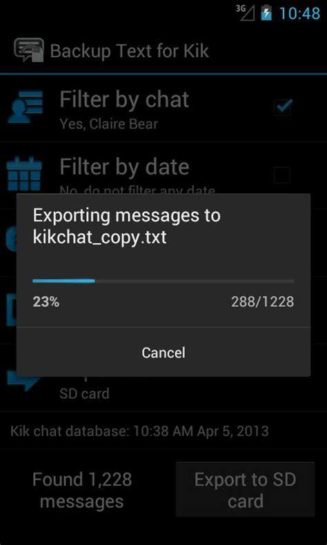 format video kik backup text for kik root 1mobile com