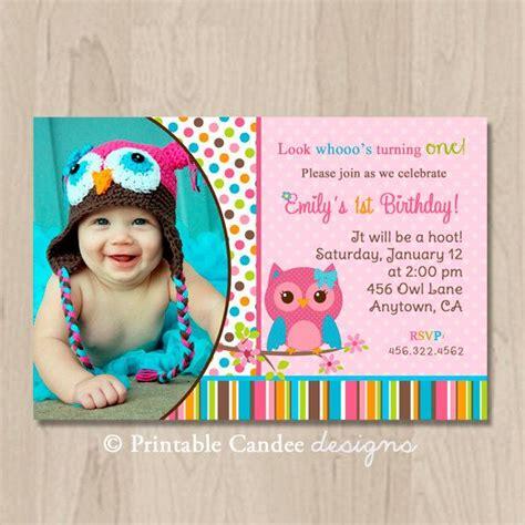 printable first birthday owl invitations mod girl owl birthday invitation diy custom printable on