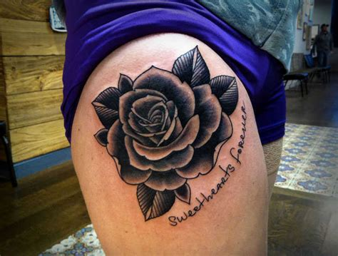 black rose tattoo on leg black tattoos designs ideas and meaning tattoos