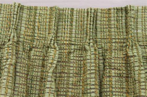 green tweed curtains retro vintage curtains for large window 60s olive green