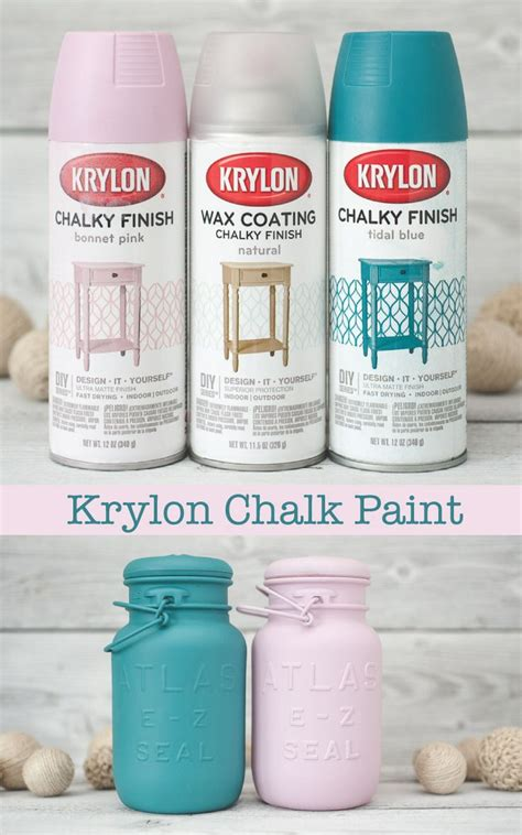 krylon chalk finish paint jars get the look and jars decor