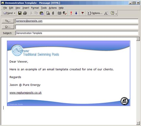 pure energy multimedia ltd email template design