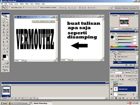 Tutorial Gambar Dalam Tulisan | tutorial photoshop menaruh gambar ke dalam tulisan