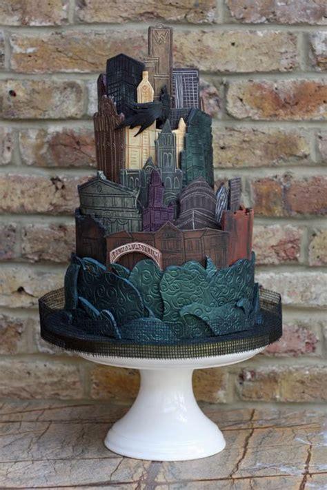 gotham cityscape cake  cakebakermoney
