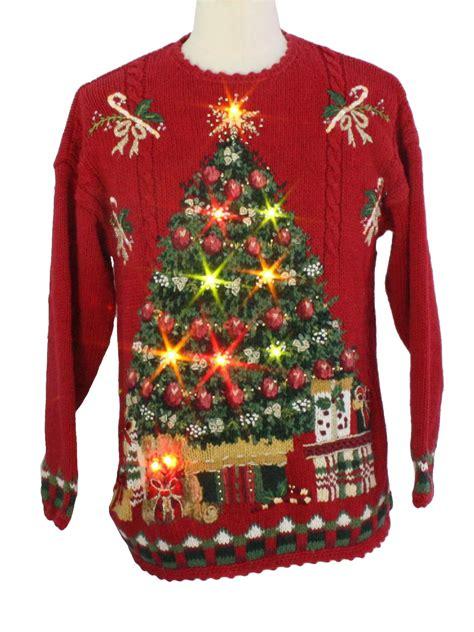 light up ugly christmas sweater tiara international