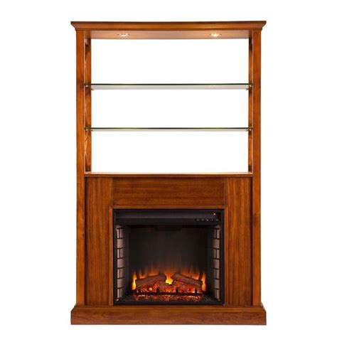 southern enterprises china cabinet southern enterprises gentry curio with electric fireplace