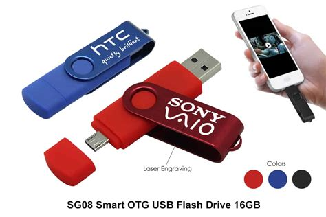 Flash Disk Sawi 16gb sg08 smart otg usb flash drive 16gb annual dinner door gift corporate gift supplier