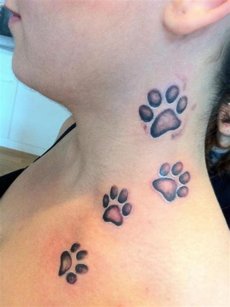 19 Leopard Paw Prints Tattoo Designs Images And Pictures Leopard Paw Print Tattoos