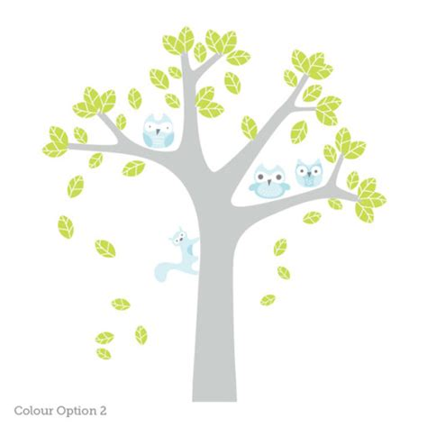 owl wall stickers for nursery owl tree wall sticker for nursery