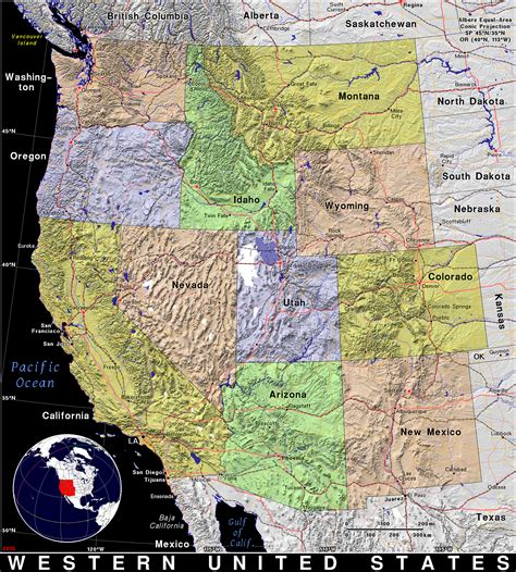 western region of the united states map western united states 183 domain maps by pat the