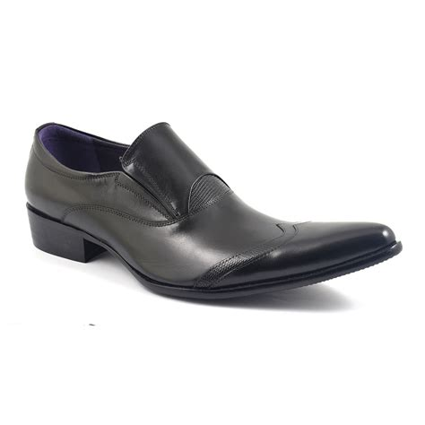 pointed sneakers buy mens black pointed slip on shoes gucinari style