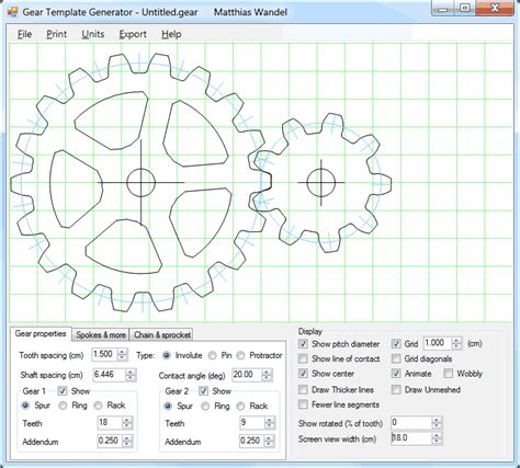 template generator gear template generator program