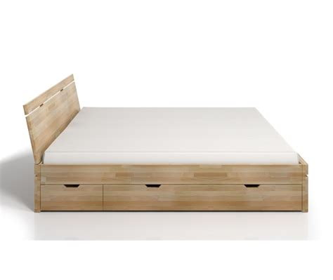 letto con cassetti letto in legno sparta in faggio con cassetti vivere zen