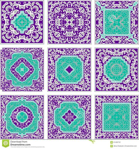 pattern color scheme purple and turquoise patterns stock vector image 61466752