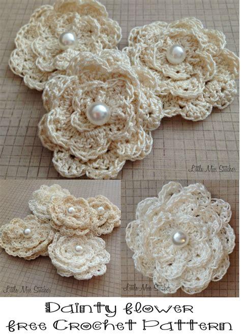 fiori a crochet dainty diy crochet flowers with free pattern