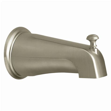 bathtub faucet with shower connection faucet com 3808bn in brushed nickel by moen