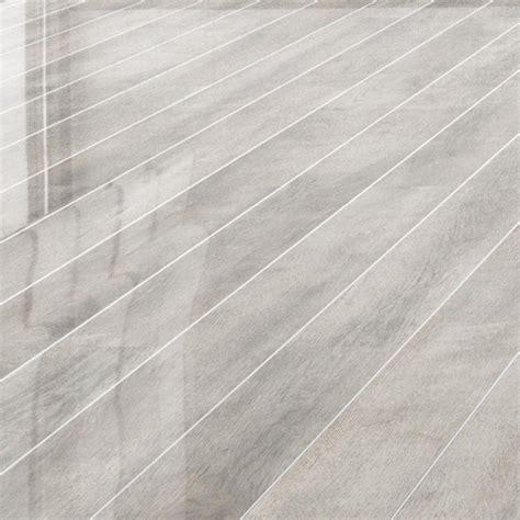 Falquon High Gloss Silver Strip White Oak Laminate