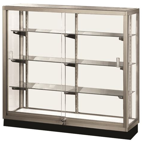 Dining Room Display Cabinet standard full view trophy showcase aisle glass trophy