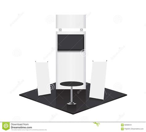 booth design illustrator trade show booth illustration stock vector image 92698444