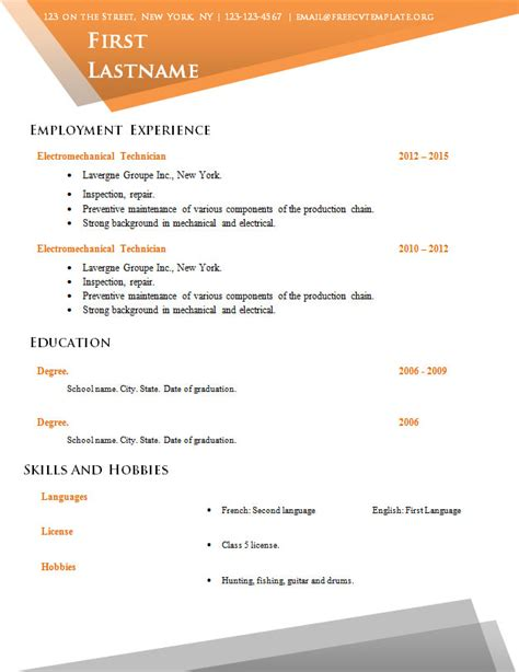 Resume Templates No Sign Up Free Cv Template No Sign Up 517 To 524 Free Cv Template Dot Org