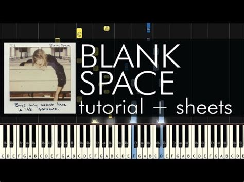 tutorial gitar blank space taylor swift blank space piano tutorial sheets youtube